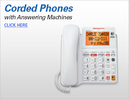 Corded Phones with Answering Machines