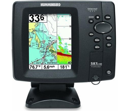 Humminbird 587ci hd combo gps chartplotter fishfinder with for Refurbished humminbird fish finders